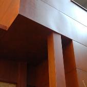 façade interieure acier corten