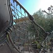Portail et clôture en acier corten