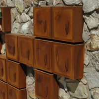 Columbarium en acier Corten